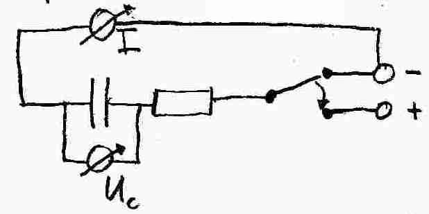 wie messen die spannung u c und k nnen ber q c u die ladung auf dem kondensator berechnen. Black Bedroom Furniture Sets. Home Design Ideas
